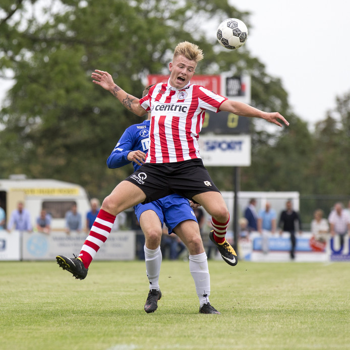 Rick van Drongelen speelde vorige maand met Sparta tegen Goes (10-0-zege).