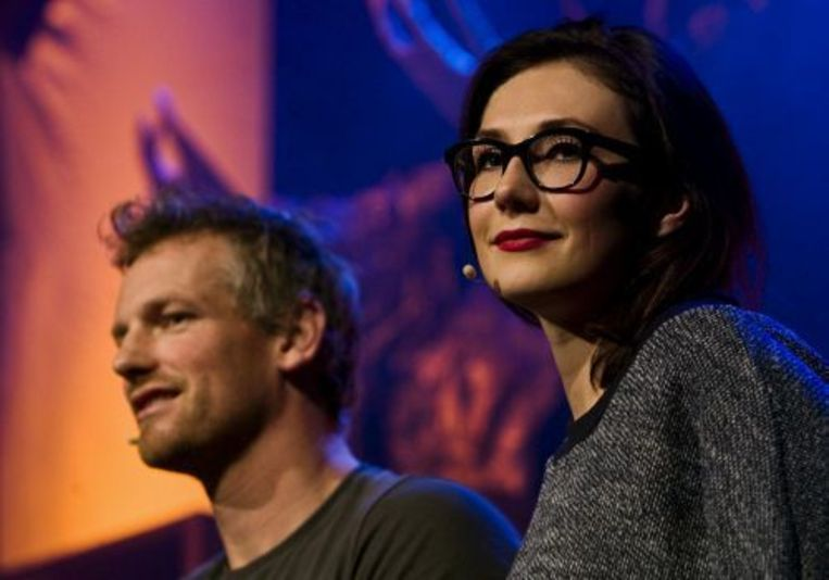 Hoofdrolspelers Barry Atsma (L) en Carice van Houten. ANP Beeld