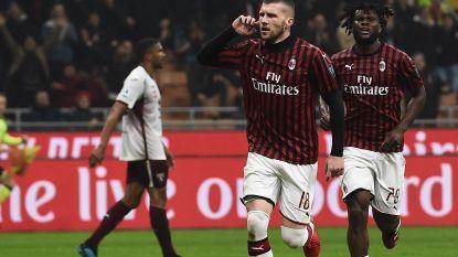 Milan wint van Torino en doet goede zaak, Saelemaekers blijft op de bank