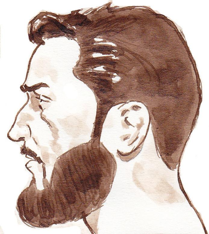 Verdachte Hardi N. tijdens een zitting in de extra beveiligde zittingszaal van de Rotterdamse rechtbank.