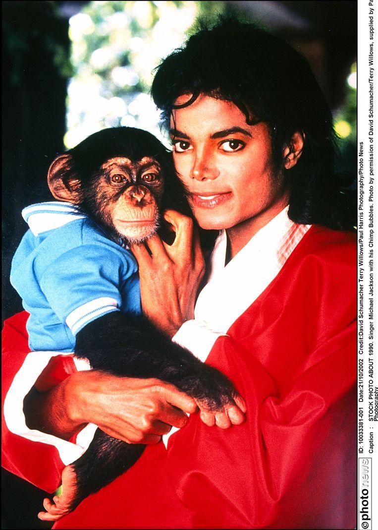 Michael Jackson en Bubbles Beeld photo_news