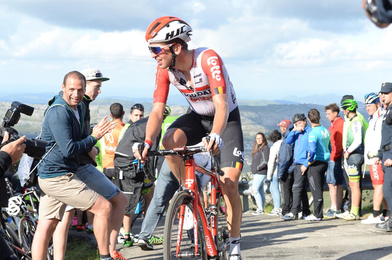 Brian van Goethem eerder deze Vuelta op de loodzware klim Los Machucos.