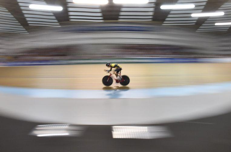 Jack Bobridge deed in Melbourne ook een, vergeefse, poging het werelduurrecord te verbeteren.