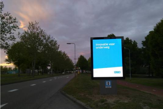 Lichtreclame Maaspoortweg.