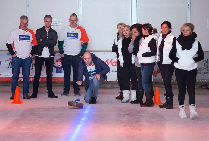 Curling tijdens de laatste editie van het evenement.
