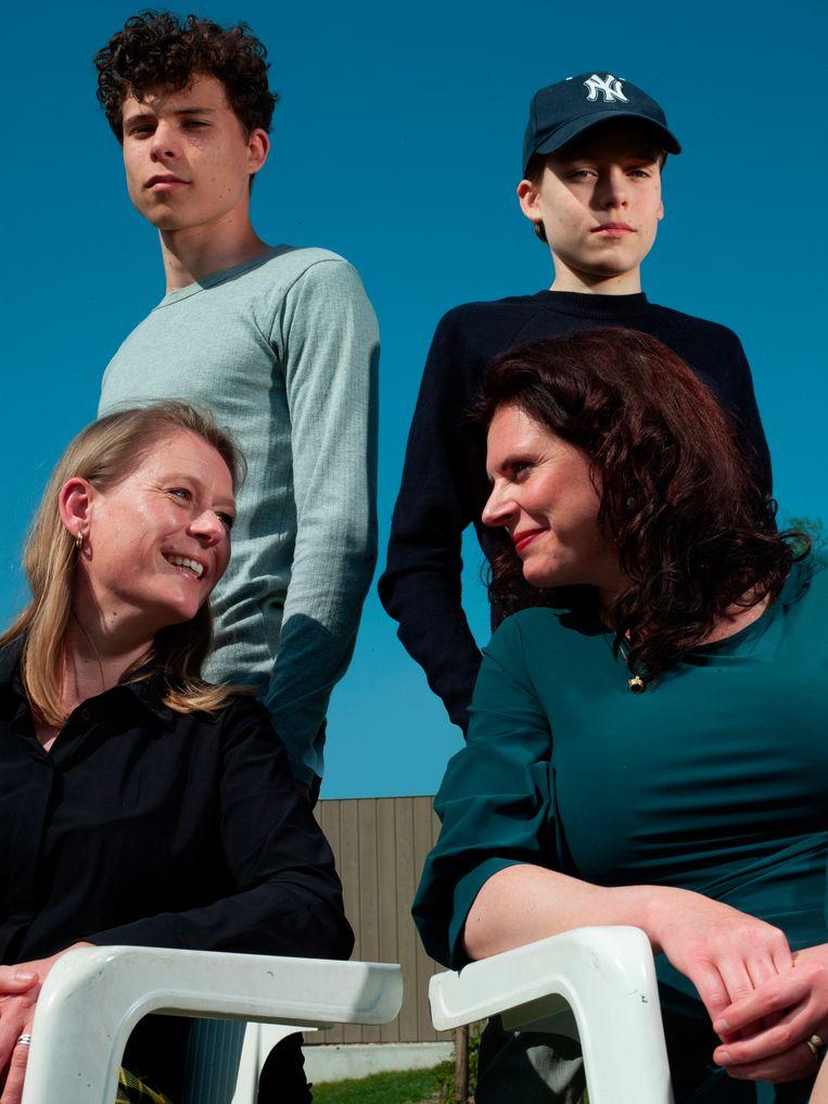 Van links naar rechts: Linda, Jort, Mart en Pia Beeld Eva Roefs