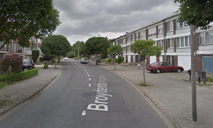 Het deel op de Broydenborglaan dat zal afgesloten worden.