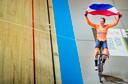 Drie gouden medailles veroverde Wild tijdens het WK baanwielrennen in Apeldoorn.
