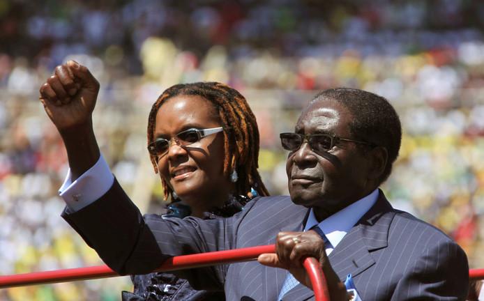 President Robert Mugabe en zijn vrouw Grace.