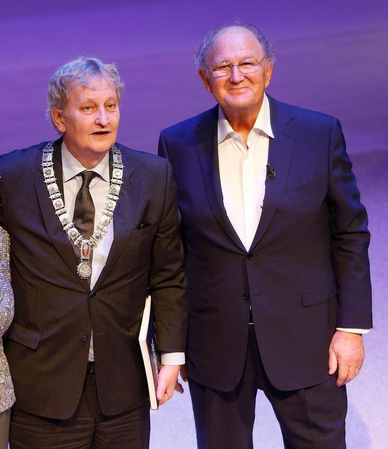 Eberhard van der Laan en Joop van den Ende tijdens de heropening van het DeLaMar Theater Beeld anp
