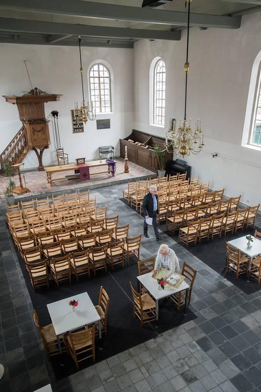 Het interieur van het Witte Kerkje.