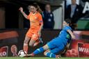 Danielle van de Donk begin vorige maand in actie tegen Slovenië.