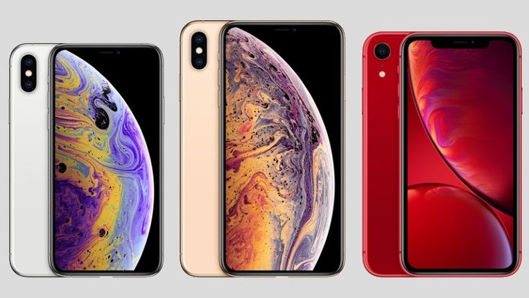 De nieuwe iPhone XS-modellen.