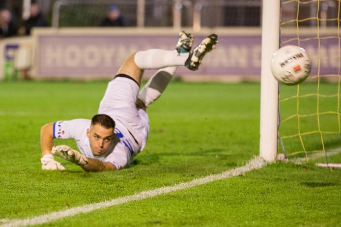 Hoek-doelman Jordi de Jonghe komt komende woensdag opnieuw in een strafschoppenserie in actie tegen FC Lisse.