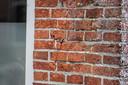 Een scheur in een woning in Westerwijtwerd, waar het epicentrum lag van een aardbeving met een kracht van 3,4.