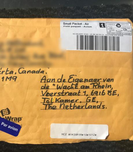 Onverwacht plofte een envelop uit Canada vol herinneringen op de deurmat van café 'Wacht am Rhein'