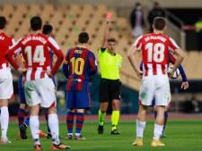 Messi suspendu deux matchs pour son exclusion en  Supercoupe: le Barça fait appel
