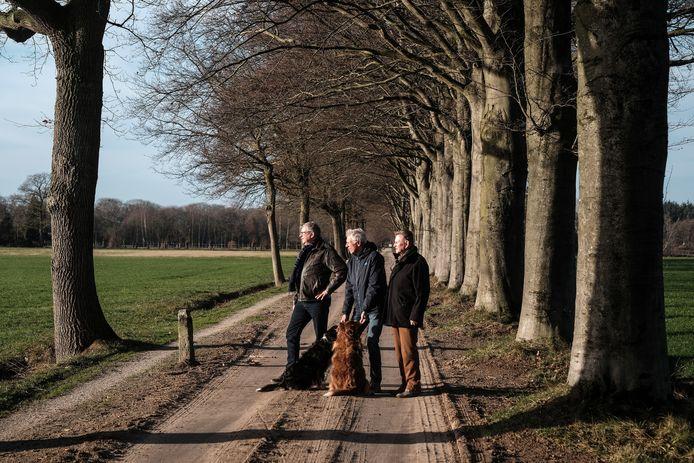 Joop Jansen, Ben Stoltenborg en Henk Voorend.