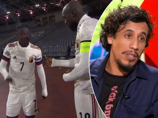 """Studiogast Saïd Boumazoughe merkt op hoe """"grote broer"""" Lukaku zich ontfermt over youngster Doku: """"Heel veel symboliek"""""""