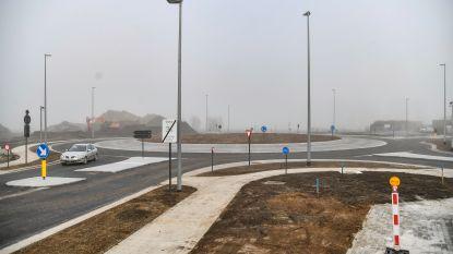 Nieuwe rotonde Hamsesteenweg maandag open
