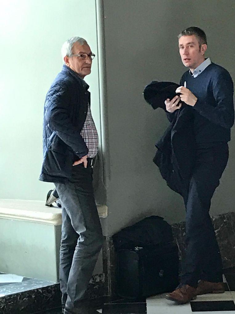 Jef Van Lommel (links) met zijn advocaat Pieter Helsen.