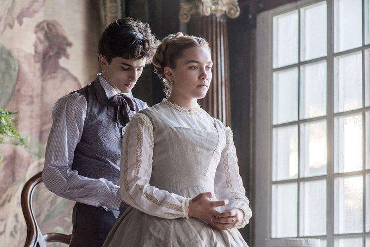 Met Timothée Chalamet in Little Women (Greta Gerwig, 2019). Beeld