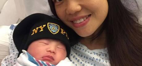 Weduwe van in 2014 doodgeschoten agent bevalt van zijn kind