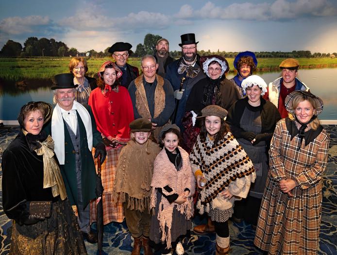 Figuranten van het Dickensfestijn in Wintelre.