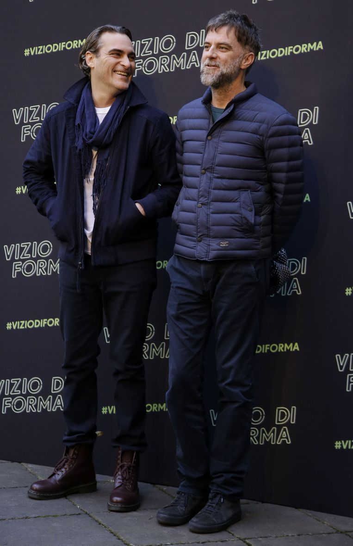 Acteur Joaquin Phoenix en regisseur Paul Thomas Anderson. Beeld AP