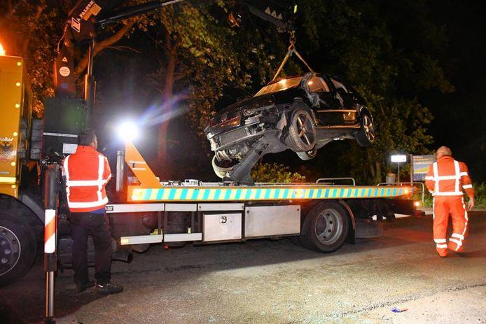 Eenzijdig ongeval in Cadzand.