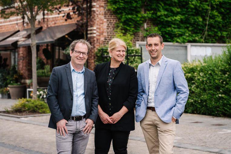 Patrick Dossche, Sofie Vercoutere en Luc Dhaene vormen de top 3 van sp.a .