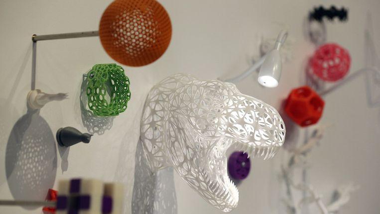 3D-geprinte objecten in het Science Museum in Londen. Beeld getty