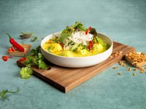 Wat Eten We Vandaag: Kokos Laka met koriander visballetjes