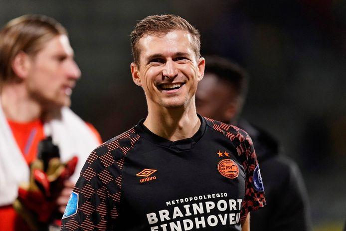 Daniel Schwaab speelde zijn 100ste eredivisiewedstrijd voor PSV.