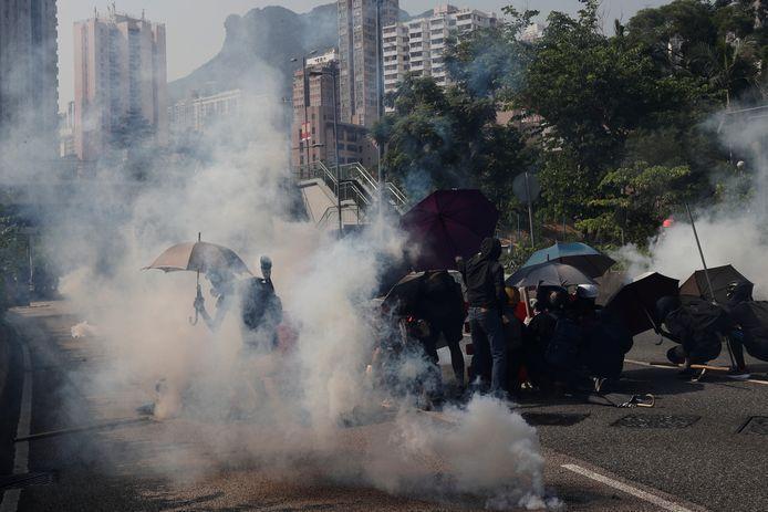 Demonstranten in Hongkong.