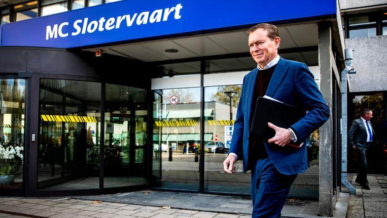 Minister Bruins was eerder deze week op bezoek bij MC Slotervaart Beeld anp