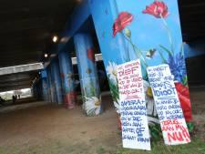 Graffitikunstenaar uit Eindhoven bestolen tijdens werk viaduct Ekkereind
