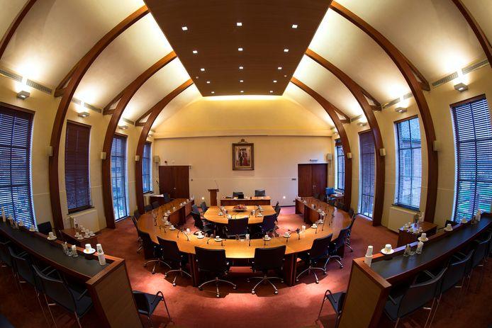 De raadzaal in het raadhuis in Winterswijk. Hier komt de gemeenteraad bijeen om besluiten te nemen. Foto ter illustratie.
