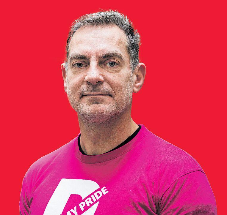 Hans Verhoeven, activist en ondernemer zet zich al sinds 1989 in voor gelijke rechten van de lhbtq-gemeenschap, in Nederland en elders in Europa. Beeld Tammy van Nerum