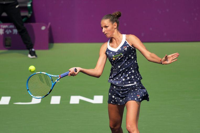 Karolina Pliskova gaat in Tianjin voor haar twaalfde WTA-titel.