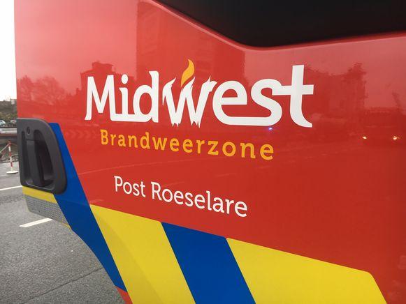 Blussers van de brandweerpost Roeselare, in de zone Midwest, snelden ter plaatse.