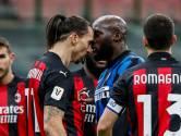 Ibrahimovic en Lukaku gaan elkaar te lijf in verhitte Milanese bekerderby