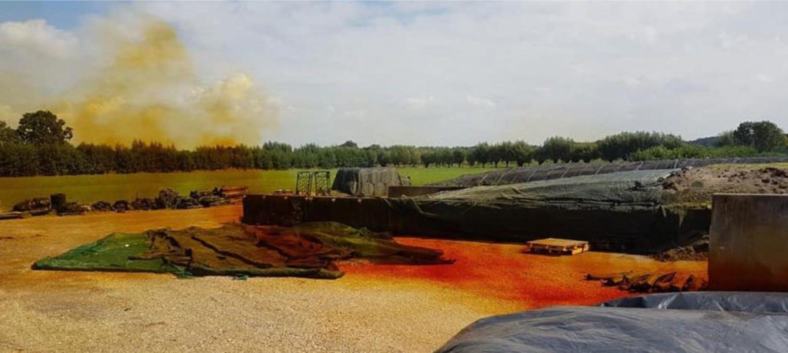 Uit maiskuilen kunnen giftige, oranje gekleurde dampen opstijgen (archieffoto).