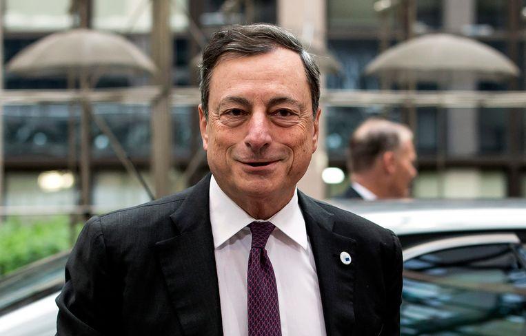 Voorzitter van de Europese Centrale Bank Mario Draghi gisteren in Brussel. Beeld epa