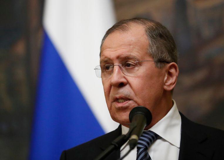 De Russische minister van Buitenlandse Zaken Sergei Lavrov Beeld EPA