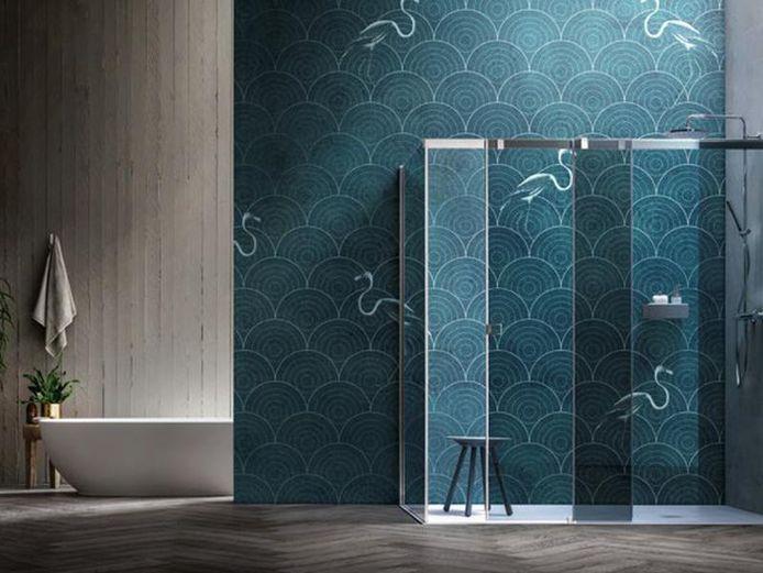 Wist je dat er waterproof behangpapier bestaat om je douchewand mee af te werken?