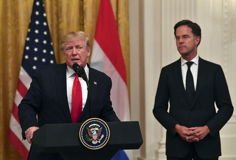 President Trump aan het woord. Beeld AFP