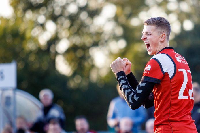 Harjan Visscher zorgde met een benutte strafworp voor de Nijeveense overwinning.
