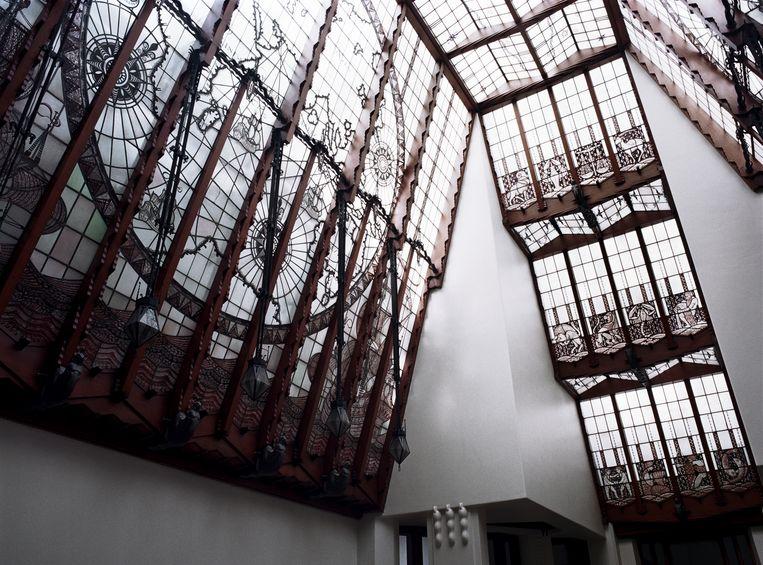 Een detail van de binnenkant van het Scheepvaarthuis Beeld Amrath grand hotel,Amsterdam