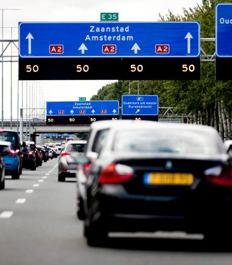 Wegen rond Amsterdam compleet vast door technische storing